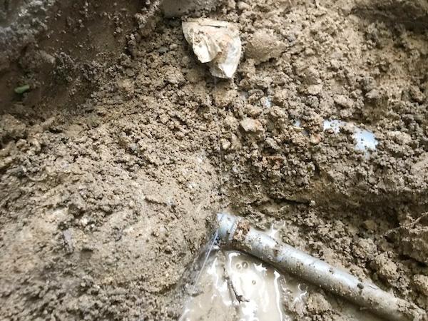 水道管からの水漏れの場合